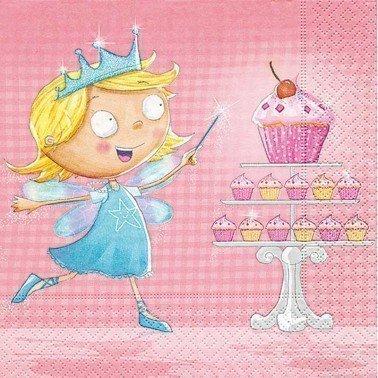 Servilletas para decoupage Cupcake Fairy 33 X 33 cm.