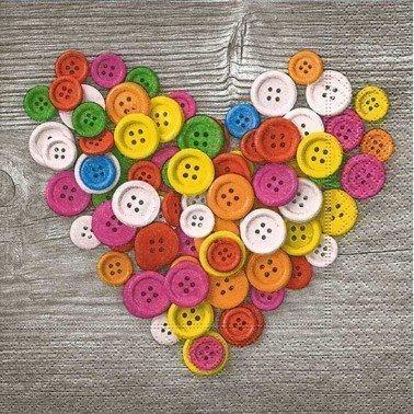 Servilletas para decoupage Colourful Buttons 33 X 33 cm.