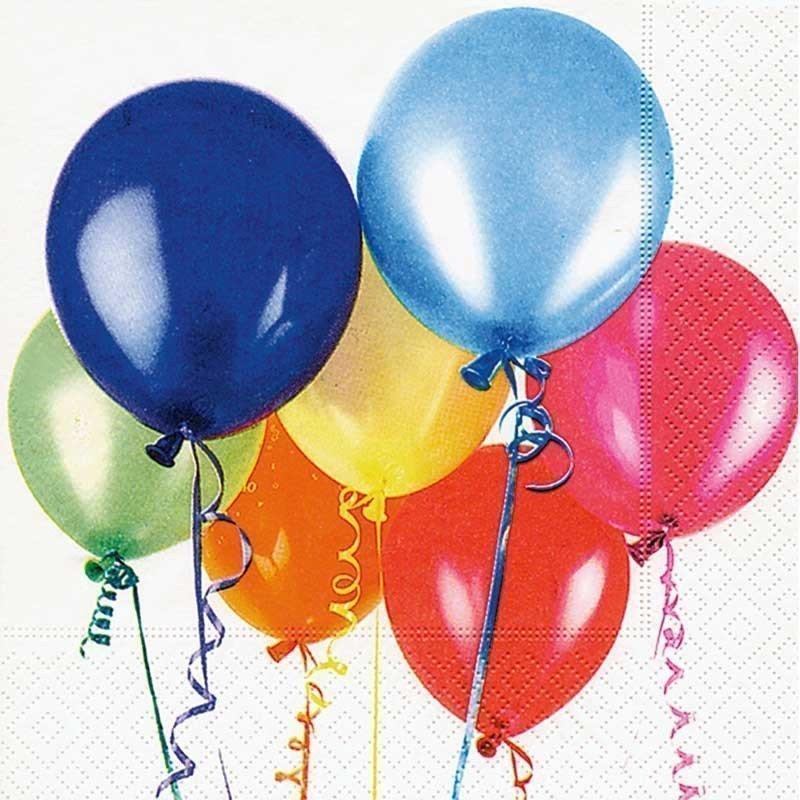 Servilletas para decoupage Flying balloons 33 X 33 cm.
