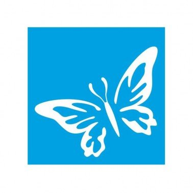 Plantilla Stencil Mariposa STX 080, 10 x 10 cm.