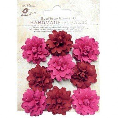 Flores de papel Boutique Elements - ROSAS ROJAS 9 flores 3,5 cm.
