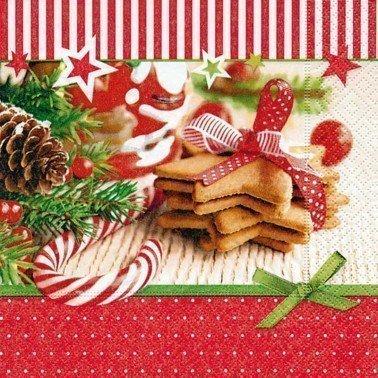 Servilletas para decoupage Christmas goodies 33 X 33 cm.