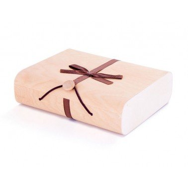 Estuche madera de balsa rectangular 17x14x5cm.