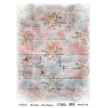 Papel de arroz decorado MADERA ROSA IMPRESA CADENCE, 30 x 41 cm.