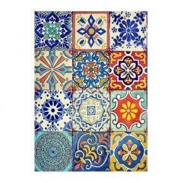 Papel de arroz decorado AZULEJOS CADENCE, 30 x 41 cm.