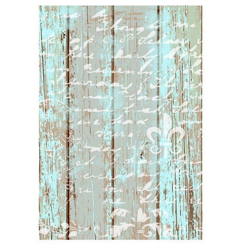 Papel de arroz decorado TEXTO EN MADERA CADENCE, 30 x 41 cm.