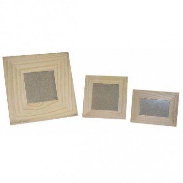 Portafotos de madera mini foto 6 x 9 cm, exterior 8,5 x 11,5 cm.