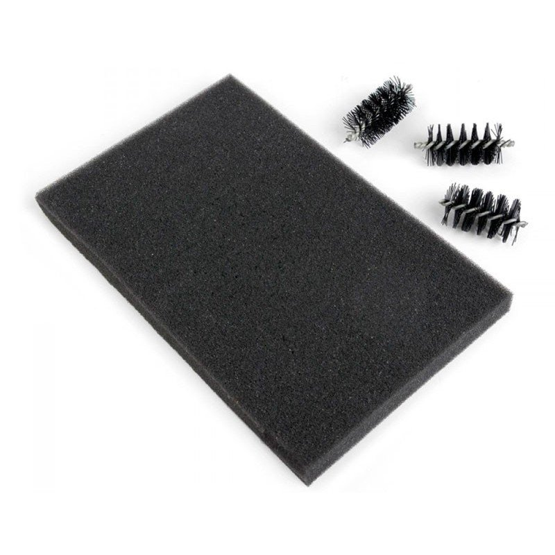 Recambio cepillo y alfombrilla para quitar exceso papel troqueles finos, 3 cabezales.