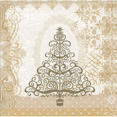 Servilletas para decoupage baroque tree gold 33 X 33 cm.