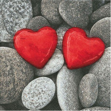 Servilletas para decoupage love stones 33 X 33 cm.