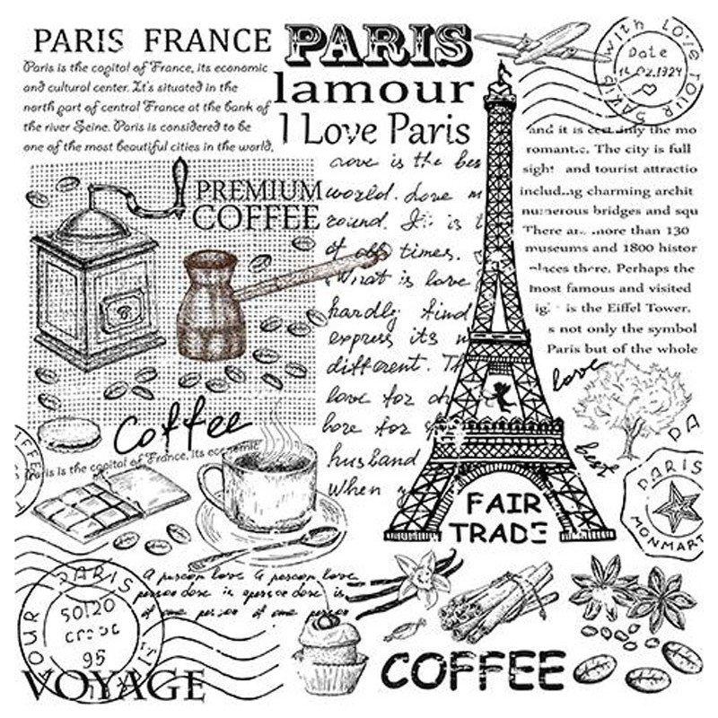 Papel para sublimación PARIS LAMOUR ARTIS DECOR 30 X 30 cm. (APROX.)