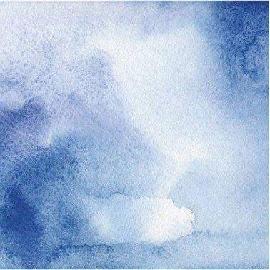 Papel para sublimación BLUE WATERCOLOR ARTIS DECOR 30 X 30 cm. (APROX.)