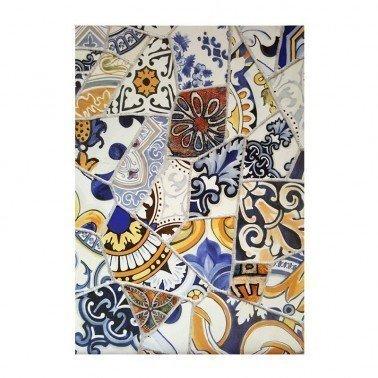 Papel de arroz decorado AZULEJOS ROTOS CADENCE, 30 x 41 cm.
