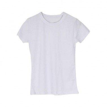 Camiseta Roly Montecarlo Blanca Chica para sublimación, Talla L.