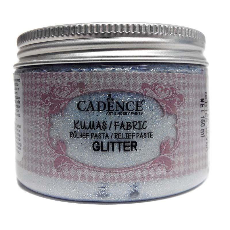 Pasta TELA Cadence GLITTER 150 ml Plata.