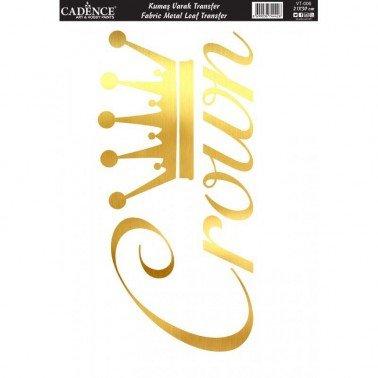 Transfer Oro para TEJIDOS 21x30cm Crown Cadence.