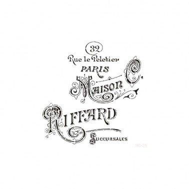Plantilla Stencil MAISON RIFFARD CADENCE 45x45 cm.