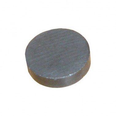 Imán ferrita disco negro, 20 x 5 mm.