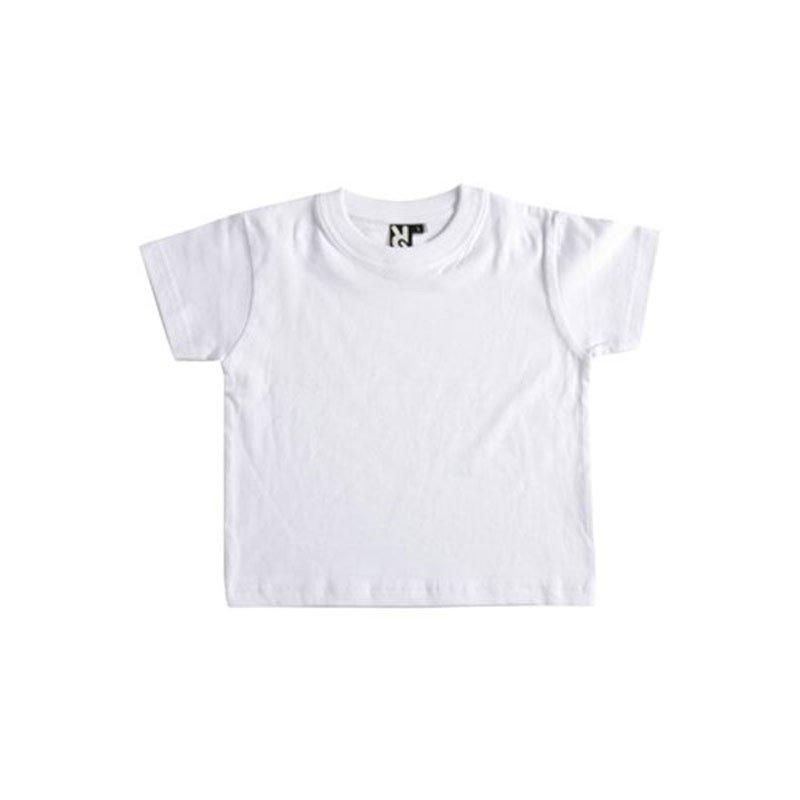 Camiseta bebé algodón Roly BABY blanca, 18M.