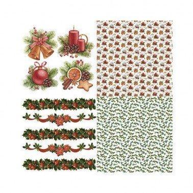 Colección 4 hojas Papel para sublimación NAVIDAD 01 ARTIS DECOR 30 X 30 cm. (APROX.)