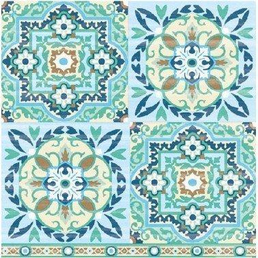 Servilletas para decoupage Tiles Green 33 X 33 cm.