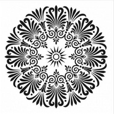 Plantilla Stencil MANDALA 3 CADENCE 45x45 cm.