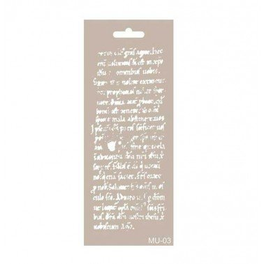 Stencil mix media TEXTO ANTIGUO 2 CADENCE 10 x 25 cm.