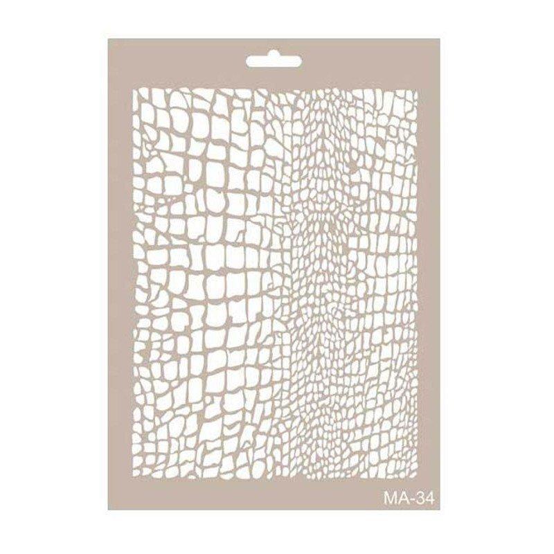 Stencil mix media PIEL DE LAGARTO CADENCE 21 x 30 cm.
