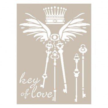 Stencil KEY OF LOVE CADENCE 21 x 30 cm.