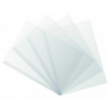 Lamina de acetato transparente A4, 297 X 210 mm, 300 micras.