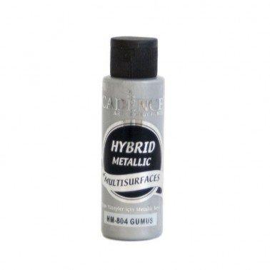Pintura acrílica Multisuperficie Hybrid Metallic PLATA 70ml.