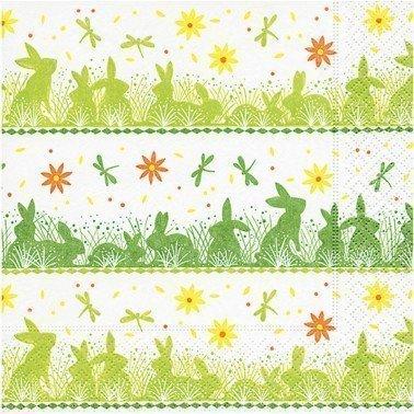 Servilletas para decoupage Bunny meadow 33 X 33 cm.