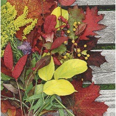 Servilletas para decoupage Colourful leaves 33 X 33 cm.