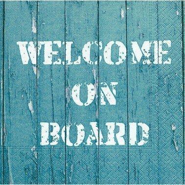 Servilletas para decoupage Welcome on board 33 X 33 cm.