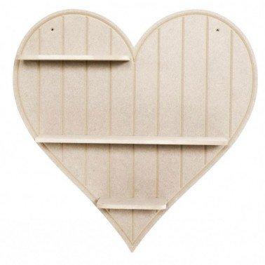 Estantería Corazón DM CADENCE 51x51x8.5 cm.