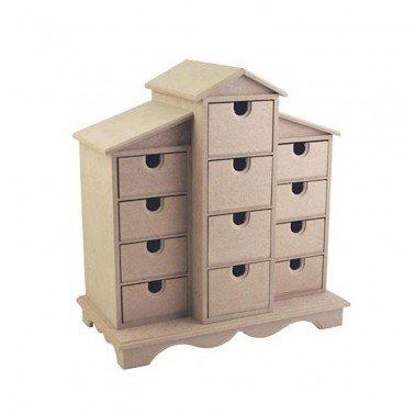 Caja Casita Cajones DM CADENCE 23x17x34 cm.