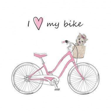 Papel para sublimación I love my bike ARTIS DECOR 30 X 30 cm. (APROX.)