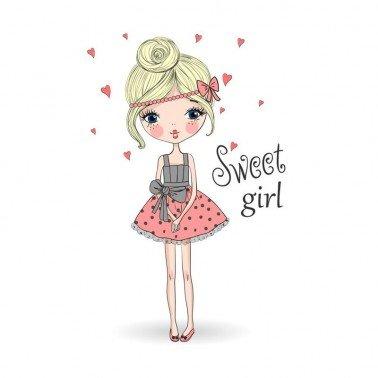 Papel para sublimación Sweet girl ARTIS DECOR 30 X 30 cm. (APROX.)