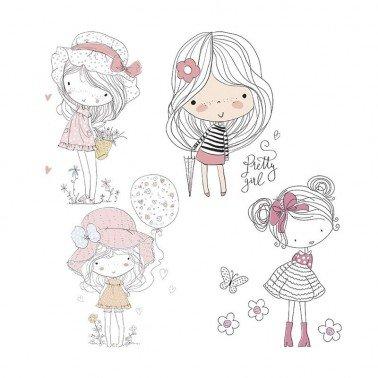 Papel para sublimación Little girls ARTIS DECOR 30 X 30 cm. (APROX.)