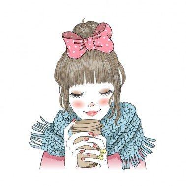 Papel para sublimación Girl coffee ARTIS DECOR 30 X 30 cm. (APROX.)