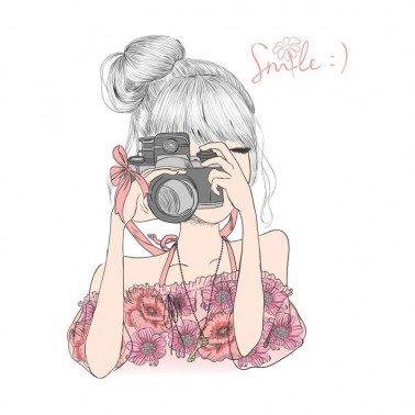 Papel para sublimación Girl smile ARTIS DECOR 30 X 30 cm. (APROX.)