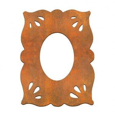 MARCO LISO ÓVALO Siluetas DM 10x14 cm.