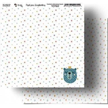 Papel Scrapbooking Amelie 058, 305x320 mm.
