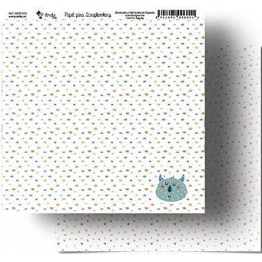Papel Scrapbooking Amelie 055, 305x320 mm.