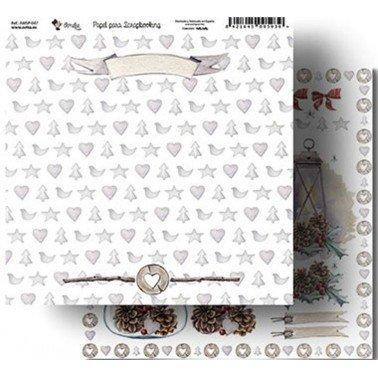 Papel Scrapbooking Amelie 047, 305x320 mm.