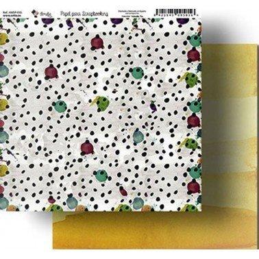Papel Scrapbooking Amelie 035, 305x320 mm.