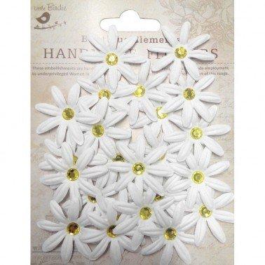 Flores de papel Boutique Elements - MARGARITAS BLANCAS 23 flores 3,5 cm.