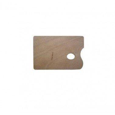 Paleta rectangular barnizada 20 x 30 cm.