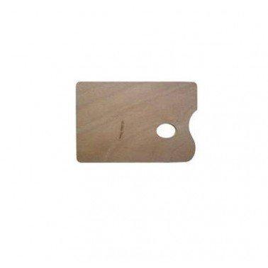 Paleta rectangular barnizada 40 x 30 cm.